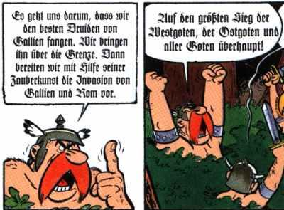 Die Goten (Deutschen) schreiben nur so